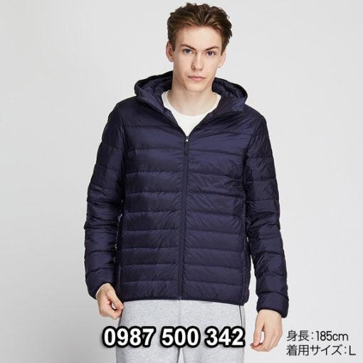 Áo lông vũ nam có mũ Uniqlo 2019 - 2020 mã 420314 màu xanh đen 69 NAVY