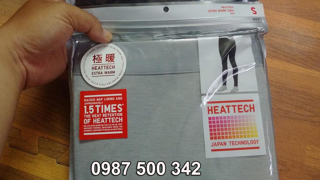 Review quần giữ nhiệt nam Heattech Extra Warm Uniqlo màu ghi nhạt 02 LIGHT GRAY