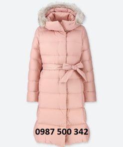 Áo lông vũ dáng dài Uniqlo Nhật Bản mã 409122 màu hồng 10 PINK
