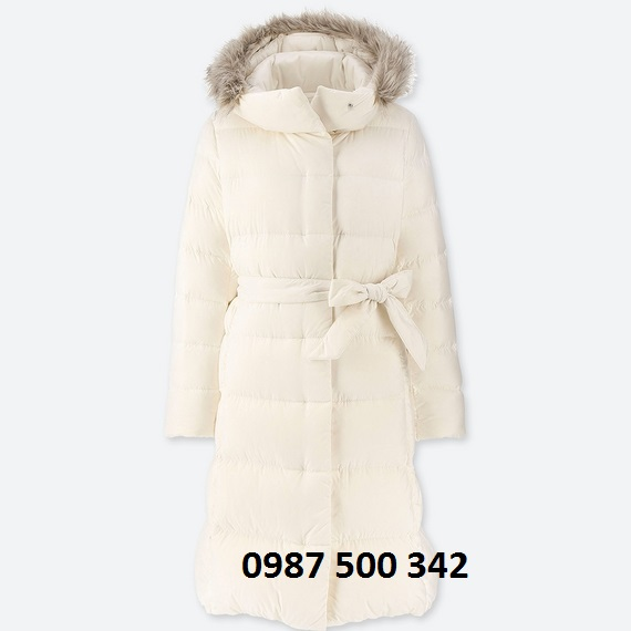 Áo lông vũ dáng dài Uniqlo Nhật Bản mã 409122 màu trắng 00 WHITE