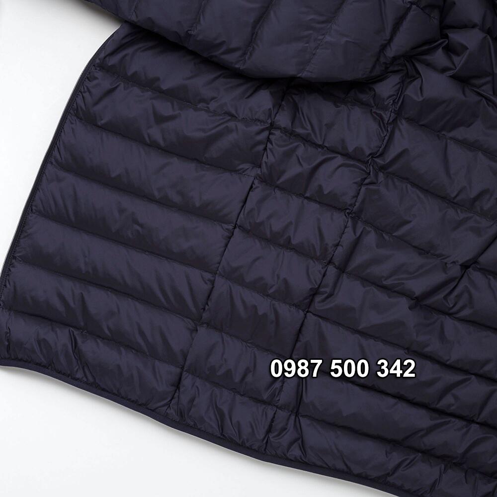 Đường chỉ may áo lông vũ nam có mũ Uniqlo 2019 - 2020