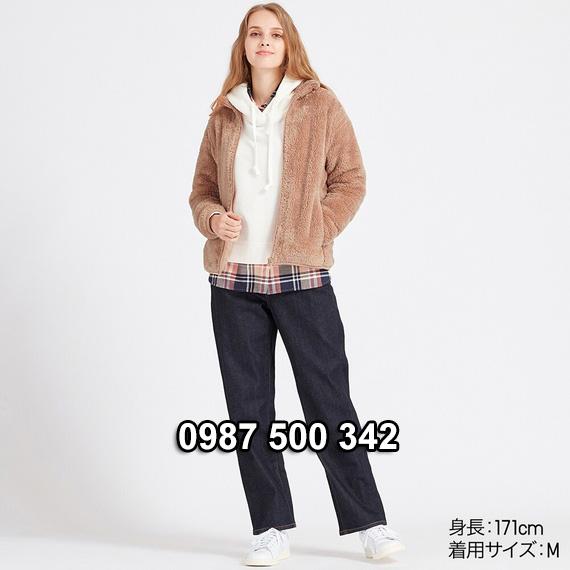 Áo lông cừu 2 mặt Uniqlo nữ 2019 mã 418242 màu hồng nude 11 PINK
