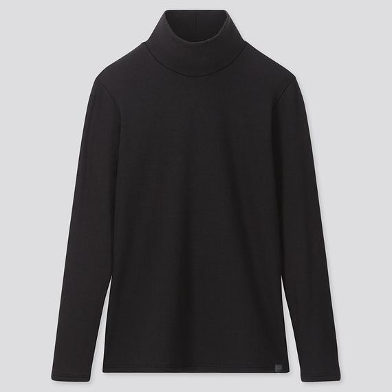 Áo giữ nhiệt nũ cổ 3 phân Heattech Ultra Warm Uniqlo Nhật Bản màu đen 09 BLACK