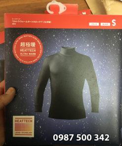 Áo giữ nhiệt nam cổ lọ Heattech Ultra Warm Uniqlo áo vải dày bên trong lót nỉ