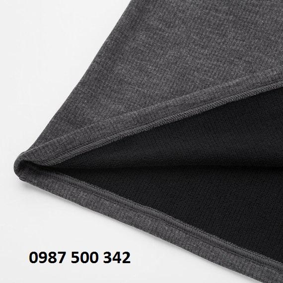 Chất vải áo giữ nhiệt nữ Heattech Ultra Warm dày dặn, bên trong có lót nỉ, mặc rất ấm.