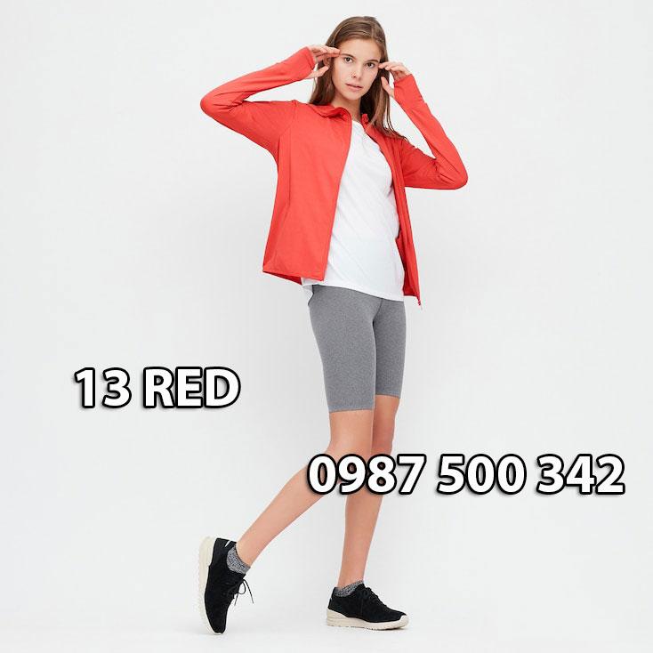 Áo chống nắng Nhật Bản Uniqlo 2020 mã 422807 màu đỏ 13 RED