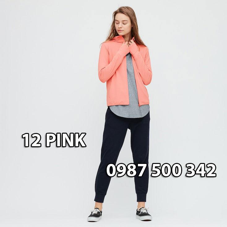 Áo chống nắng Nhật Bản Uniqlo 2020 mã 422807 màu hồng cam 12 PINK