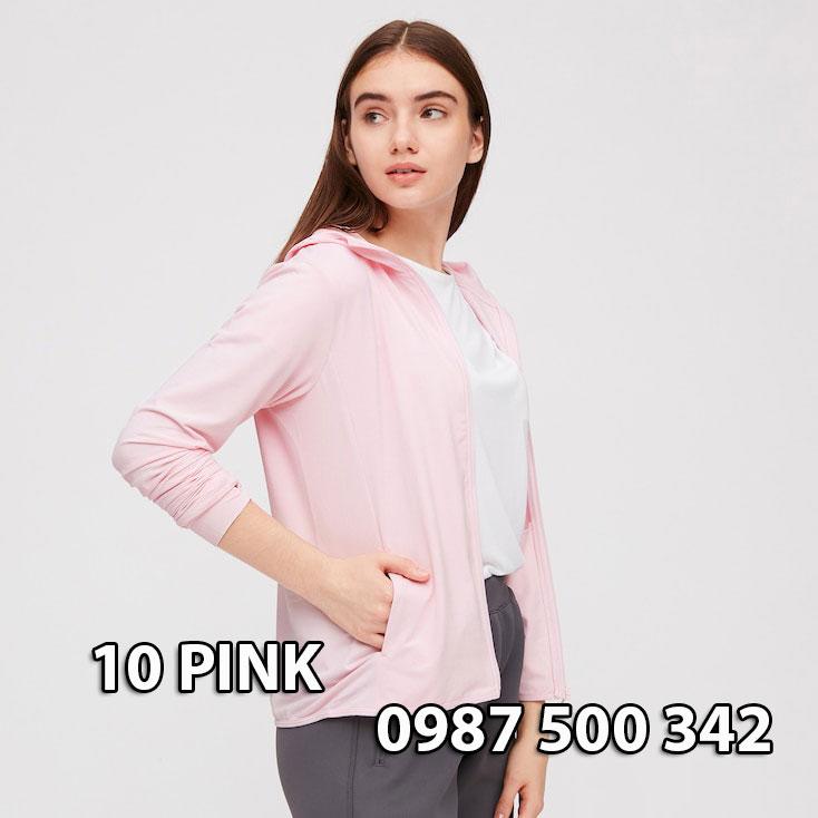 Áo chống nắng Nhật Bản Uniqlo 2020 mã 422807 màu hồng nhạt 10 PINK