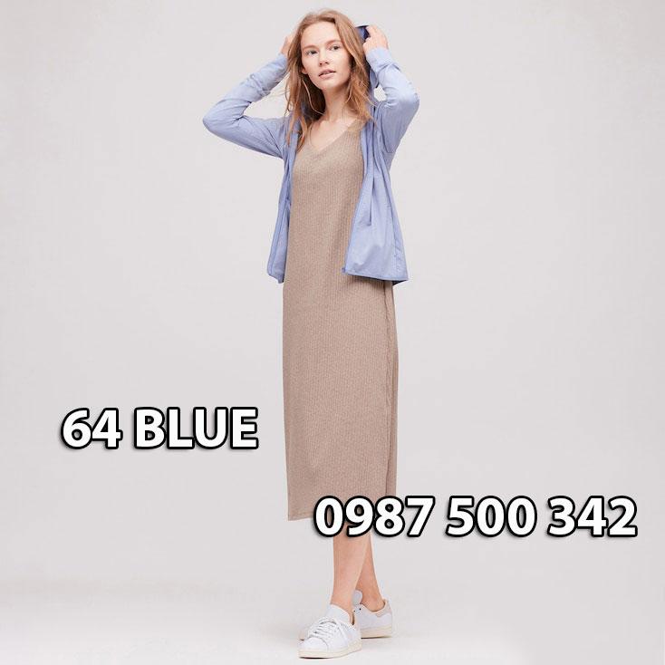 Áo chống nắng Nhật Bản Uniqlo 2020 mã 422807 màu xanh biển 64 BLUE