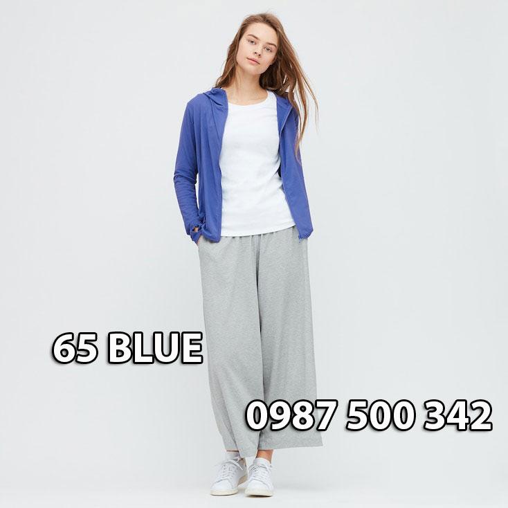 Áo chống nắng Nhật Bản Uniqlo 2020 mã 422807 màu xanh biển đậm 65 Blue