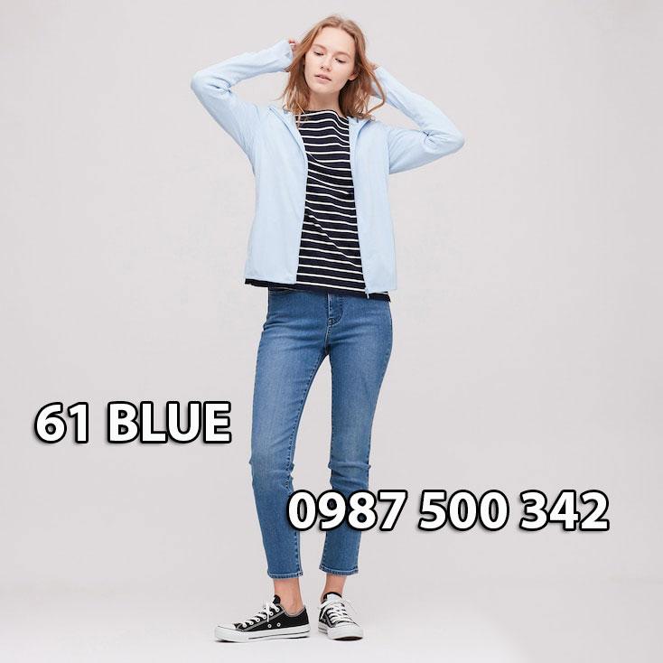 Áo chống nắng Nhật Bản Uniqlo 2020 mã 422807 màu xanh da trời 61 BLUE