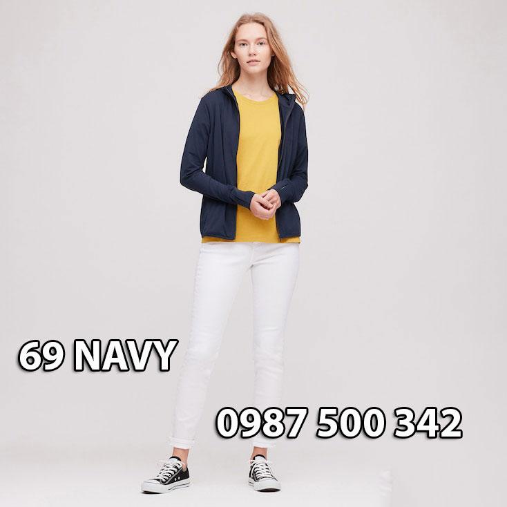 Áo chống nắng Nhật Bản Uniqlo 2020 mã 422807 màu xanh đen 69 NAVY