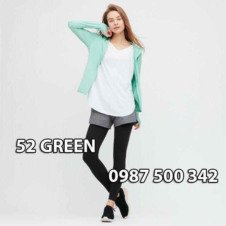 Áo chống nắng Nhật Bản Uniqlo 2020 mã 422807 màu xanh ngọc 52 GREEN