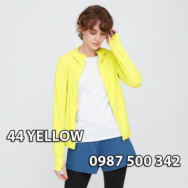 Áo chống nắng Nhật Bản Uniqlo 2020 mã 422807 màu vàng chanh 44 YELLOW