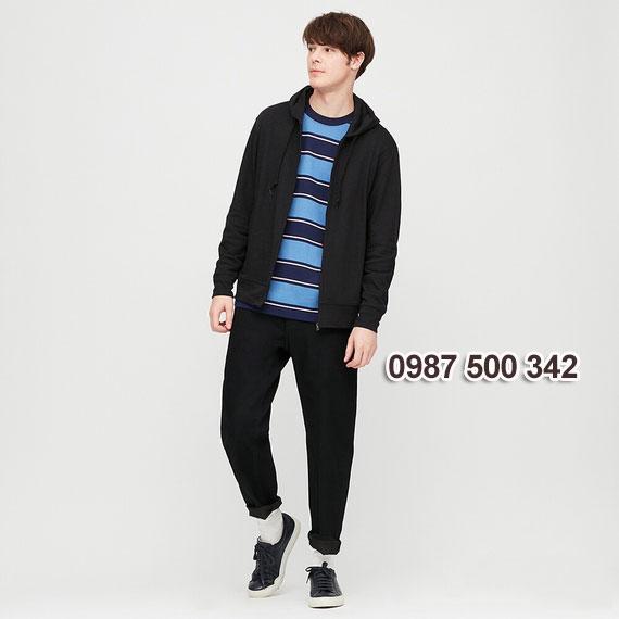 Áo chống nắng nam Uniqlo 2020 màu đen 09 BLACK - 422986