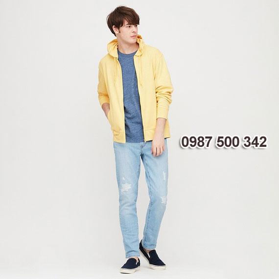 Áo chống nắng nam Uniqlo 2020 màu vàng 42 YELLOW - 422986