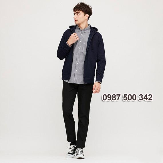 Áo chống nắng nam Uniqlo 2020 màu xanh đen 69 NAVY - 422986