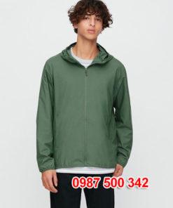 Áo gió nam Uniqlo 2020 màu xanh rêu 56 OLIVE - 425028