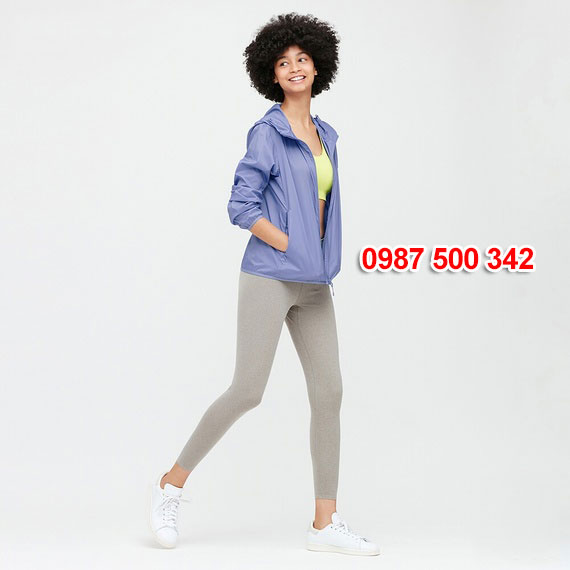 Áo gió nữ Uniqlo Nhật Bản 2020 mã 424576 màu xanh biển 64 BLUE
