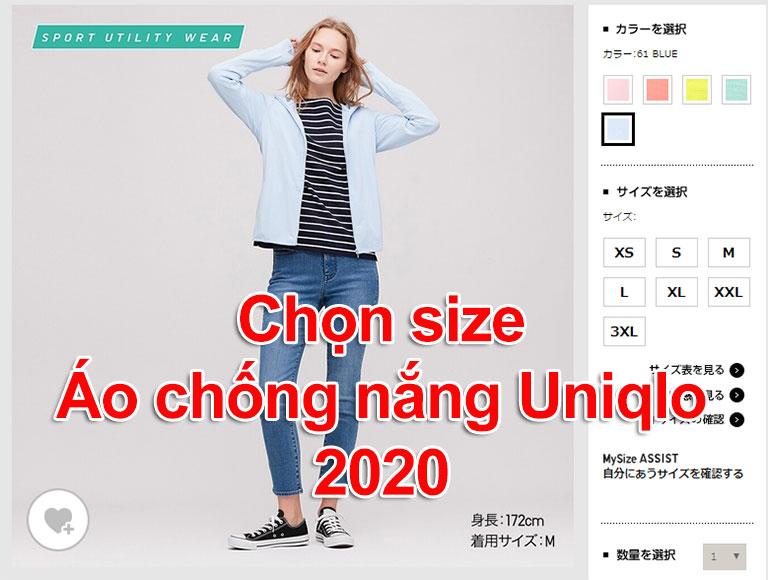 Bảng size áo chống nắng thun lạnh Uniqlo AiRism 2020