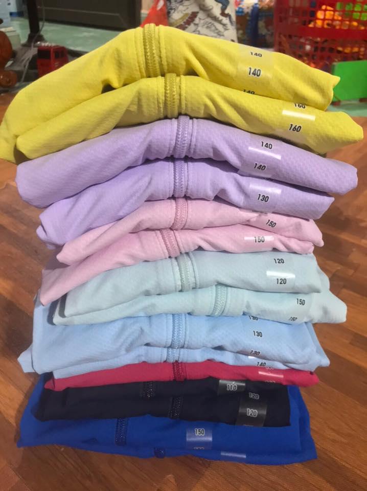 Màu áo chống nắng trẻ em Uniqlo 2020