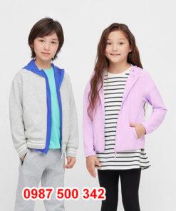 Áo chống nắng trẻ em Uniqlo 2020 - 425209 màu tím nhạt 70 LIGHT PURPLE