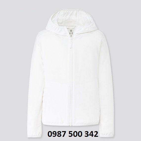Áo chống nắng trẻ em Uniqlo 2020 - 425209 màu trắng 00 WHITE