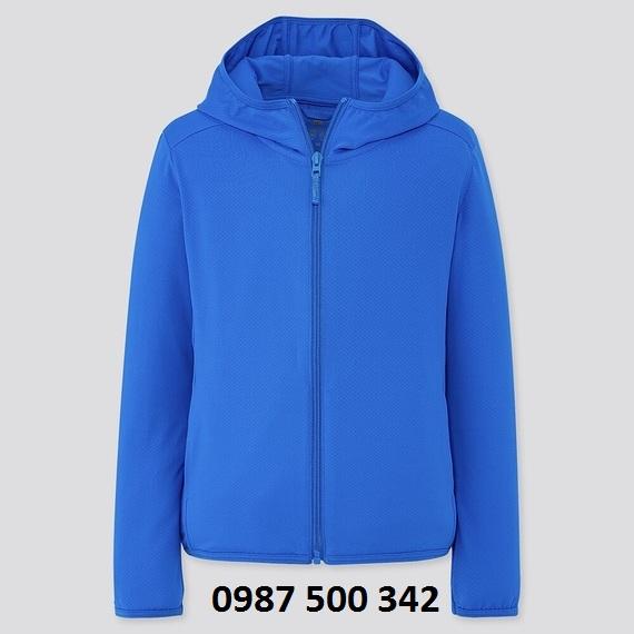 Áo chống nắng trẻ em Uniqlo 2020 - 425209 màu xanh coban 64 BLUE
