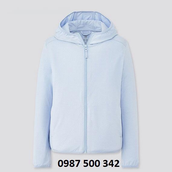 Áo chống nắng trẻ em Uniqlo 2020 - 425209 màu xanh da trời 61 BLUE