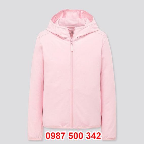 Áo chống nắng trẻ em Uniqlo 2020 - 425209 màu hồng nhạt 10 PINK