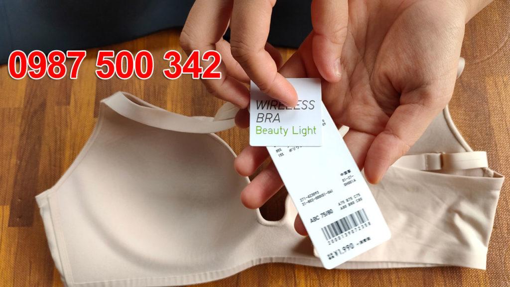 Ảnh thật sản phẩm: áo lót không gọng Uniqlo Nhật Bản 2020