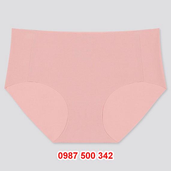 Quần lót không viền cạp thấp Uniqlo 2020 - 423049 màu hồng 11 PINK
