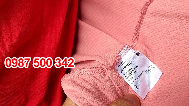 Tem mác bên trong Áo chống nắng Uniqlo 2020 màu hồng cam 12 PINK-422807