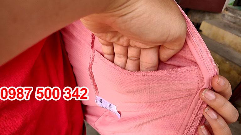 Túi bên trong Áo chống nắng Uniqlo 2020 màu hồng cam 12 PINK-422807