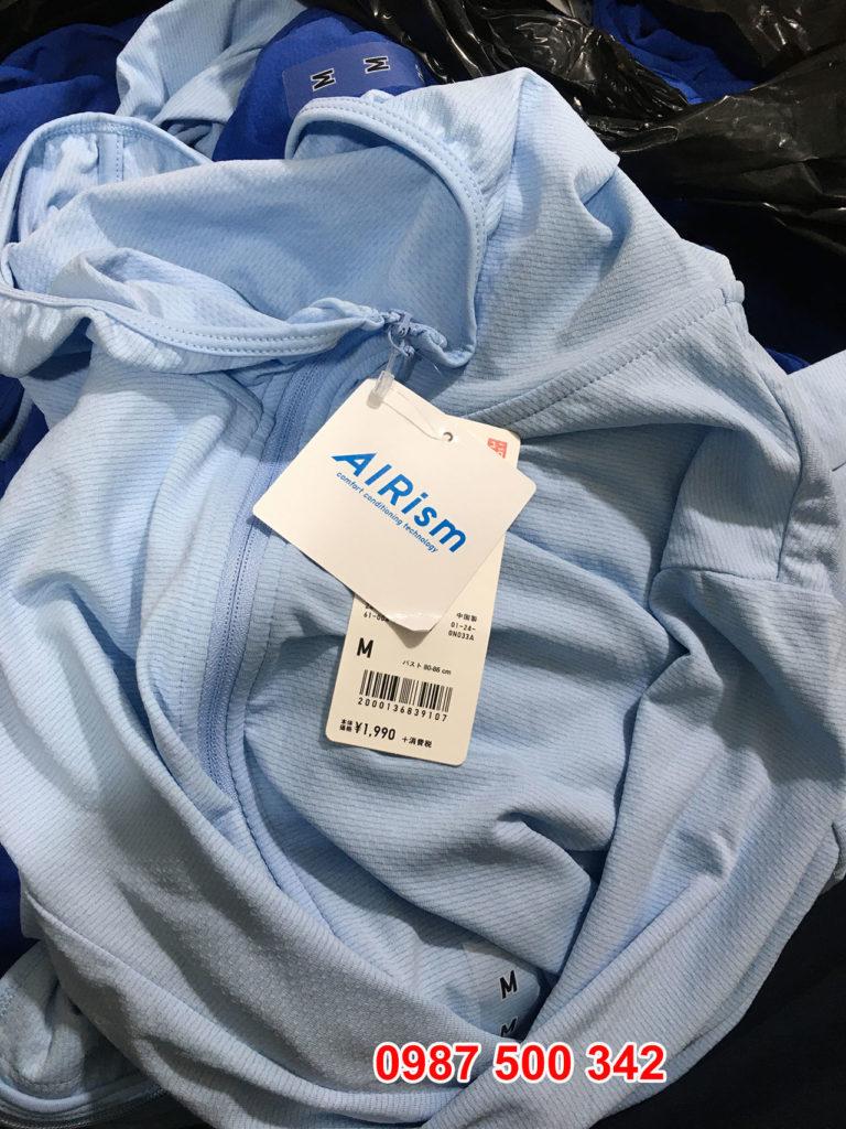 Chất vải áo chống nắng thun lạnh nữ Uniqlo
