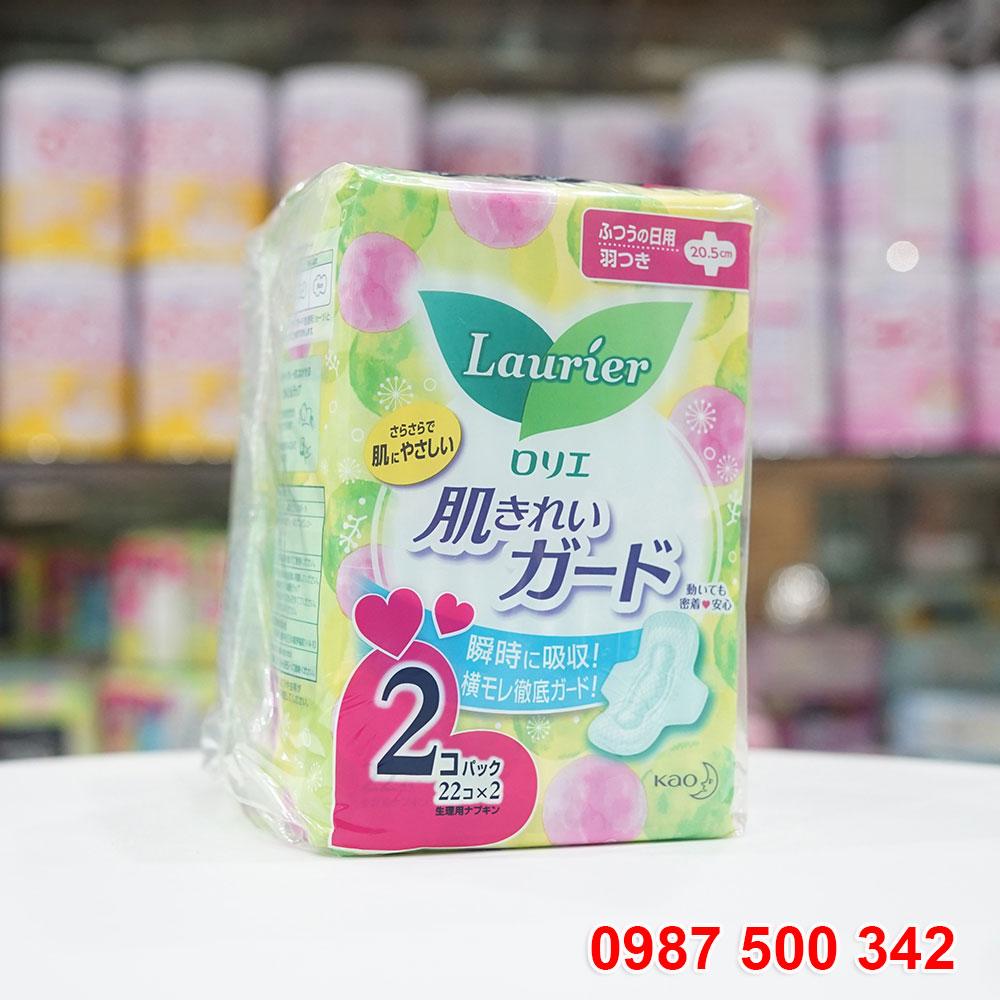 Set 2 gói băng vệ sinh Laurier có cánh (44 miếng) Nhật Bản