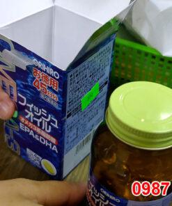 Mở hộp Dầu cá Omega 3, EPA & DHA Orihiro Nhật Bản hộp 180 viên