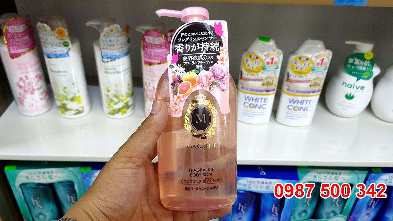 Sữa tắm Shiseido Macherie 450ml Nhật Bản