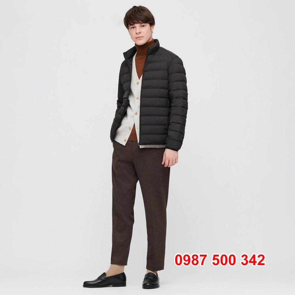 Áo lông vũ nam không mũ Uniqlo 2020 - 2021 mã 429280 áo màu đen 09 BLACK