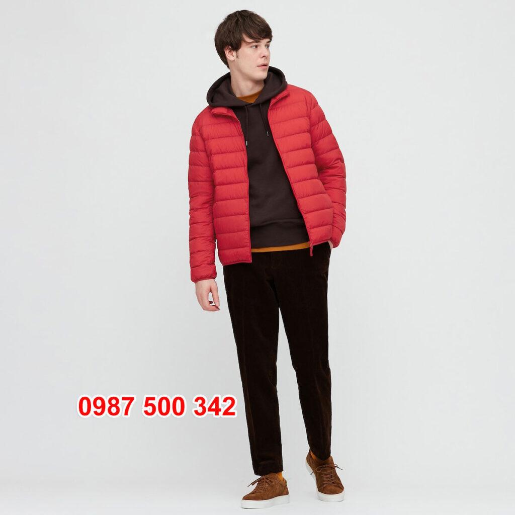 Áo lông vũ nam không mũ Uniqlo 2020 - 2021 mã 429280 áo màu đỏ 16 RED