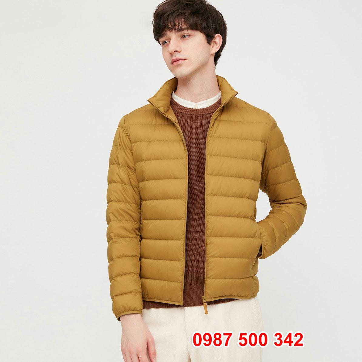 Áo lông vũ nam không mũ Uniqlo 2020 - 2021 mã 429280 áo màu vàng be 47 YELLOW