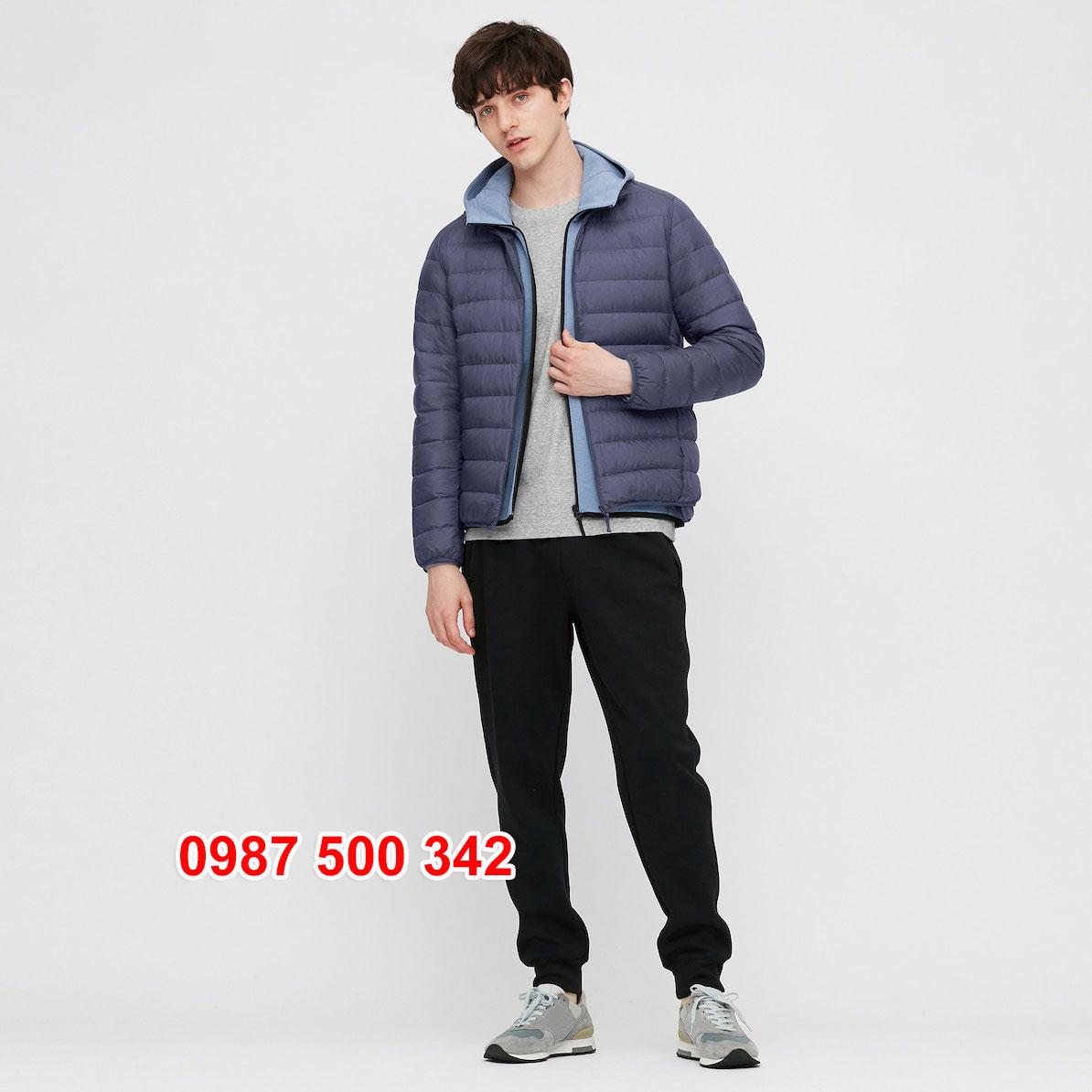 Áo lông vũ nam không mũ Uniqlo 2020 - 2021 mã 429280 áo màu xanh biển 67 BLUE
