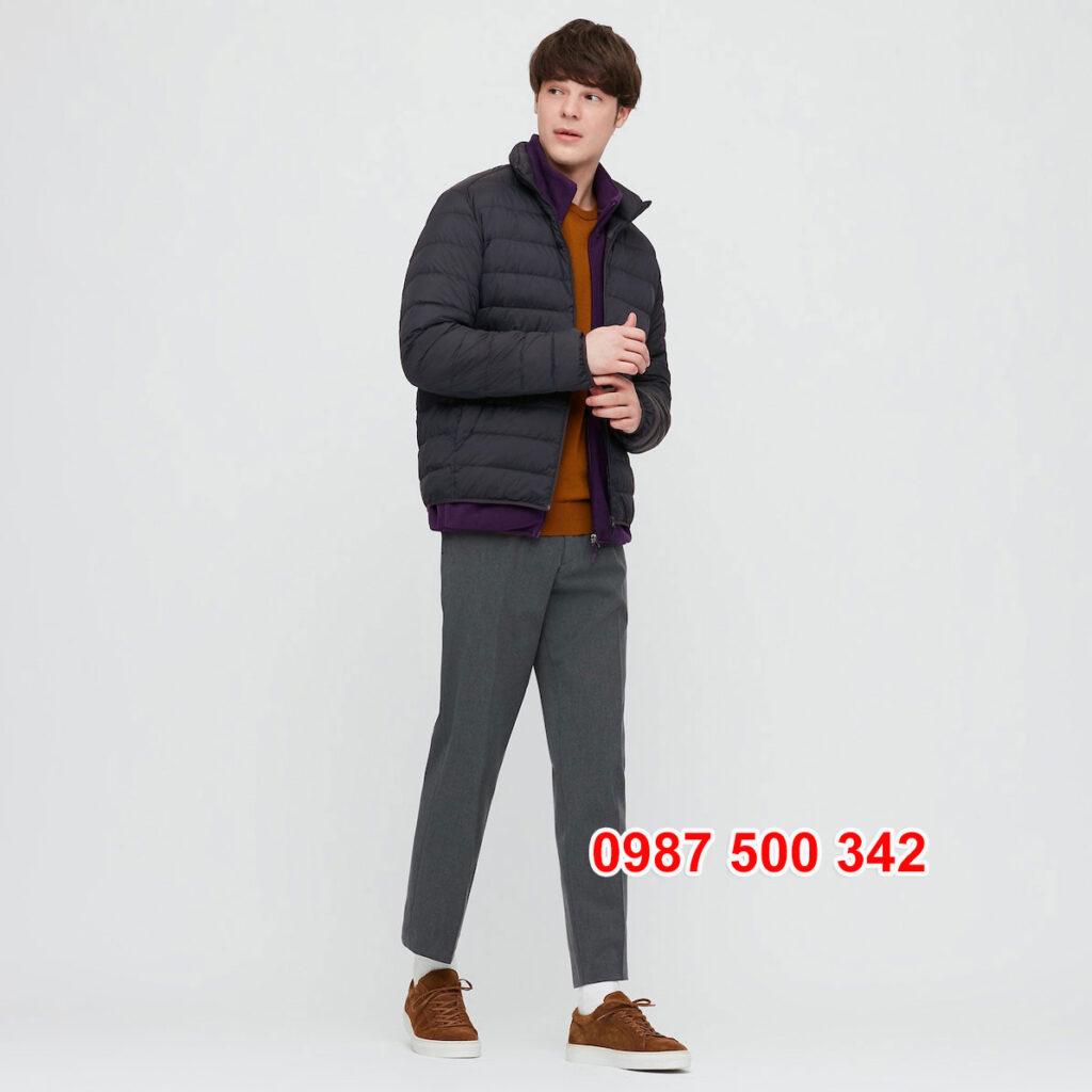 Áo lông vũ nam không mũ Uniqlo 2020 - 2021 mã 429280 áo màu xanh đen 69 NAVY