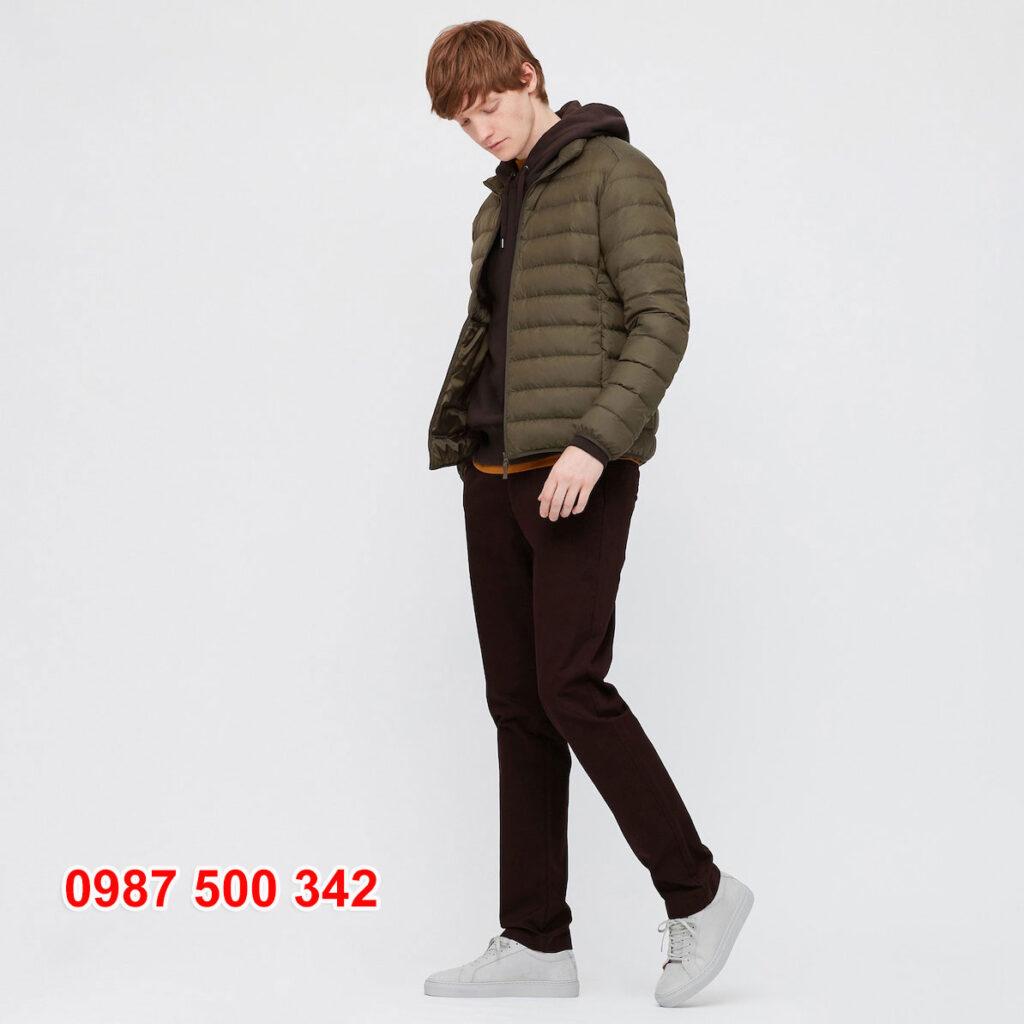 Áo lông vũ nam không mũ Uniqlo 2020 - 2021 mã 429280 áo màu xanh rêu 57 OLIVE