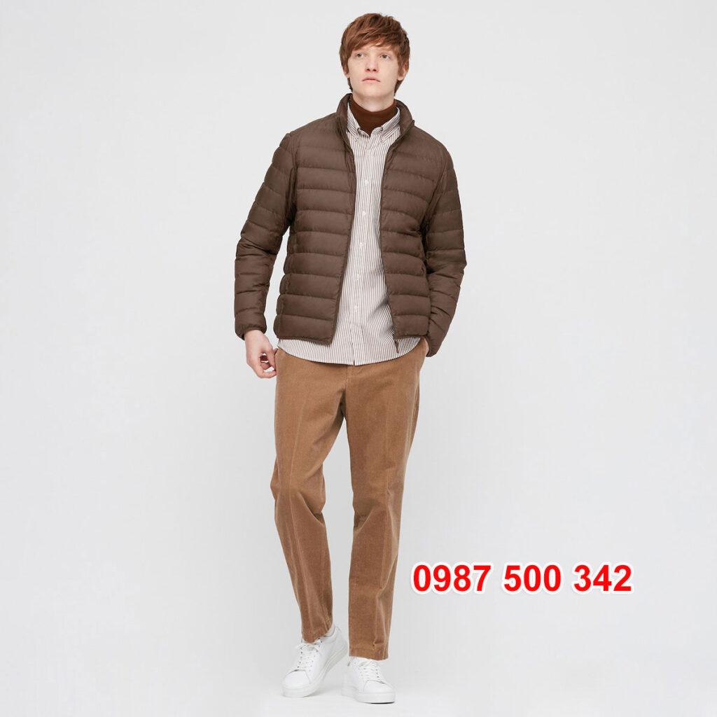Áo lông vũ nam không mũ Uniqlo 2020 - 2021 mã 429280 áo màu nâu đậm 38 DARK BROWN