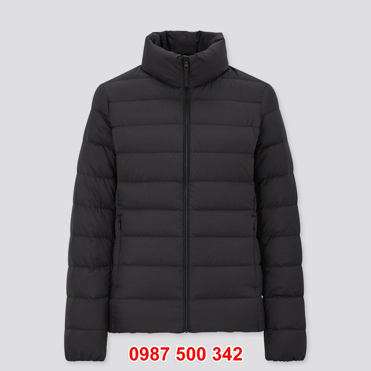 Áo lông vũ nữ không mũ Uniqlo 2020 – 2021 mã 429453 áo màu đen 09 BLACK