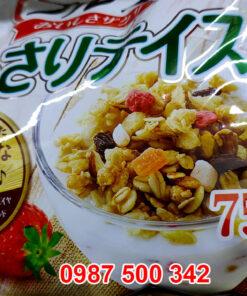 Bao bì mới ngũ cốc đỏ calbee 750g Nhật Bản