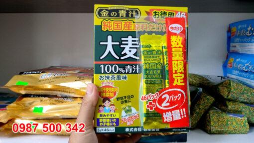 Bột lúa mạch non Nhật Bản Golden Aojiru 3gr X 46 gói Made in Japan