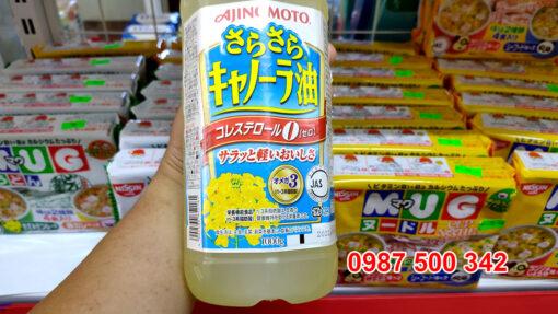Dầu ăn hoa cải Ajinomoto 1000g có hàm lượng Omega -3 & 6 cao cùng các dưỡng chất cần thiết cho sự phát triển của trẻ nhỏ, thai nhi, bà bầu.
