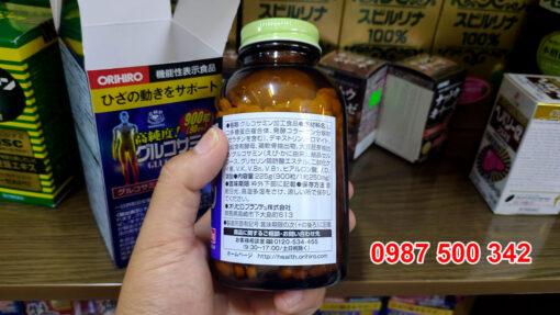 Hình ảnh lọ Viên uống bổ Xương Khớp Glucosamin Orihiro 1500mg Nhật Bản